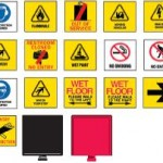 Adhesive Pictograms For Cones