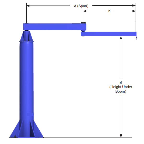Articulated Jib Crane Materials Handling