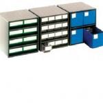 Coloured Bin Cabinets