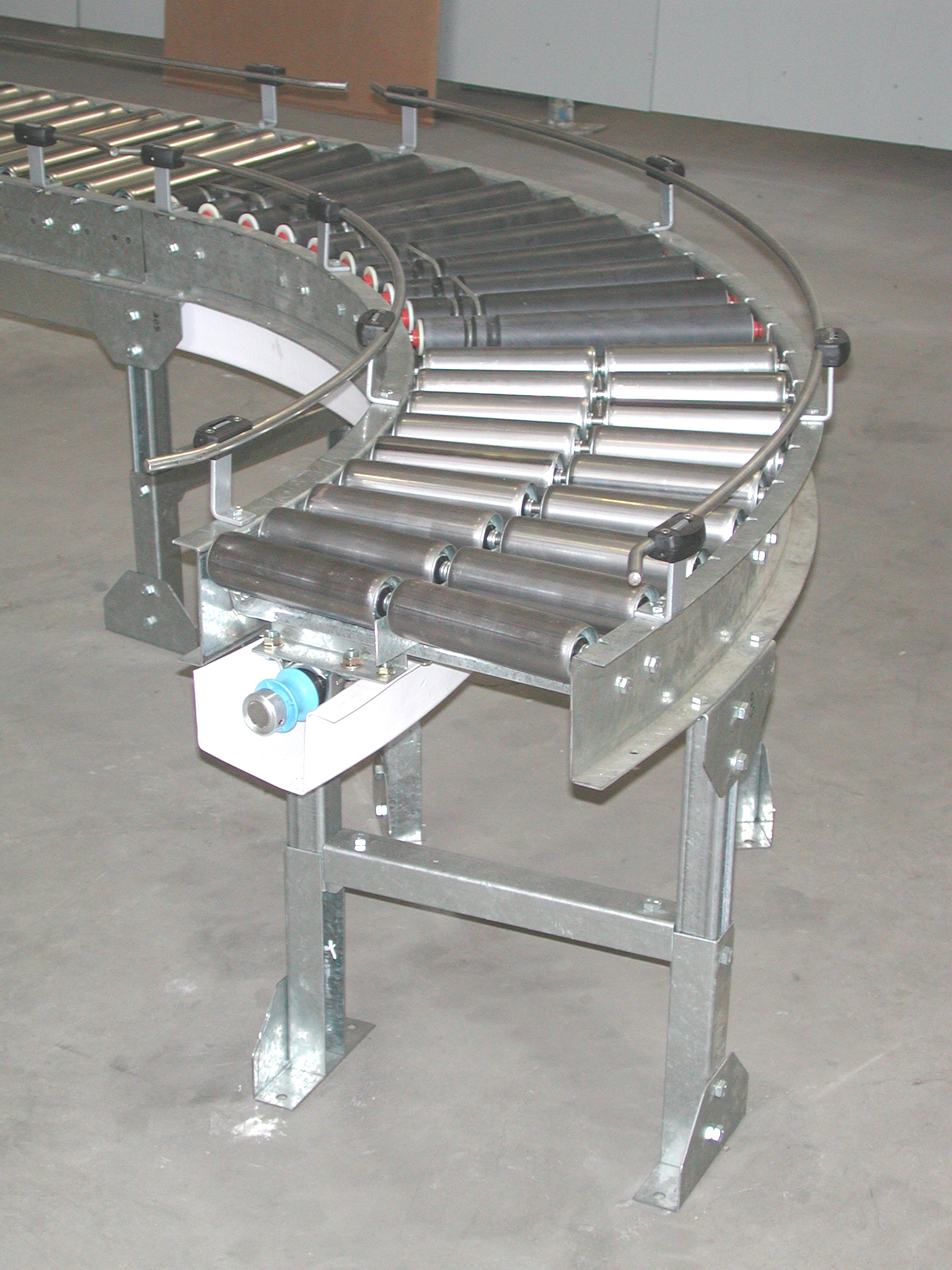 Powered Roller Conveyors Cleanline Lineshaft Materials