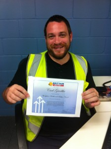 Carl is pleased to be receiving the latest Workplace Health and Safety award!