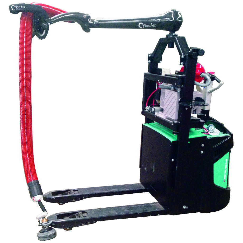 Portable Vacuum Lifting Equipment : Pallet truck mounted vacuum order picker materials handling