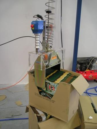 Loading Beer Cartons into a High Speed Carton Erector