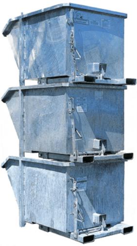MTU Low Profile Tipping Bins