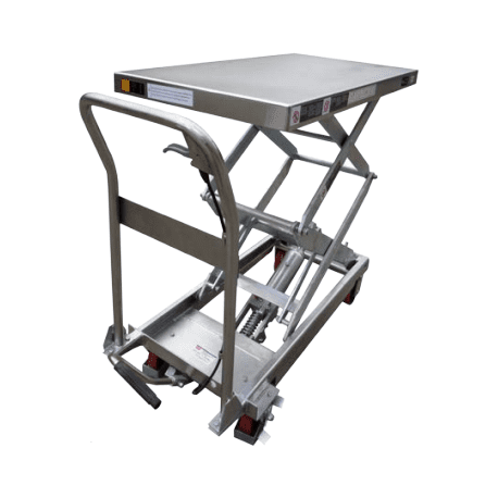 Stainless Mobile Scissor Trolleys