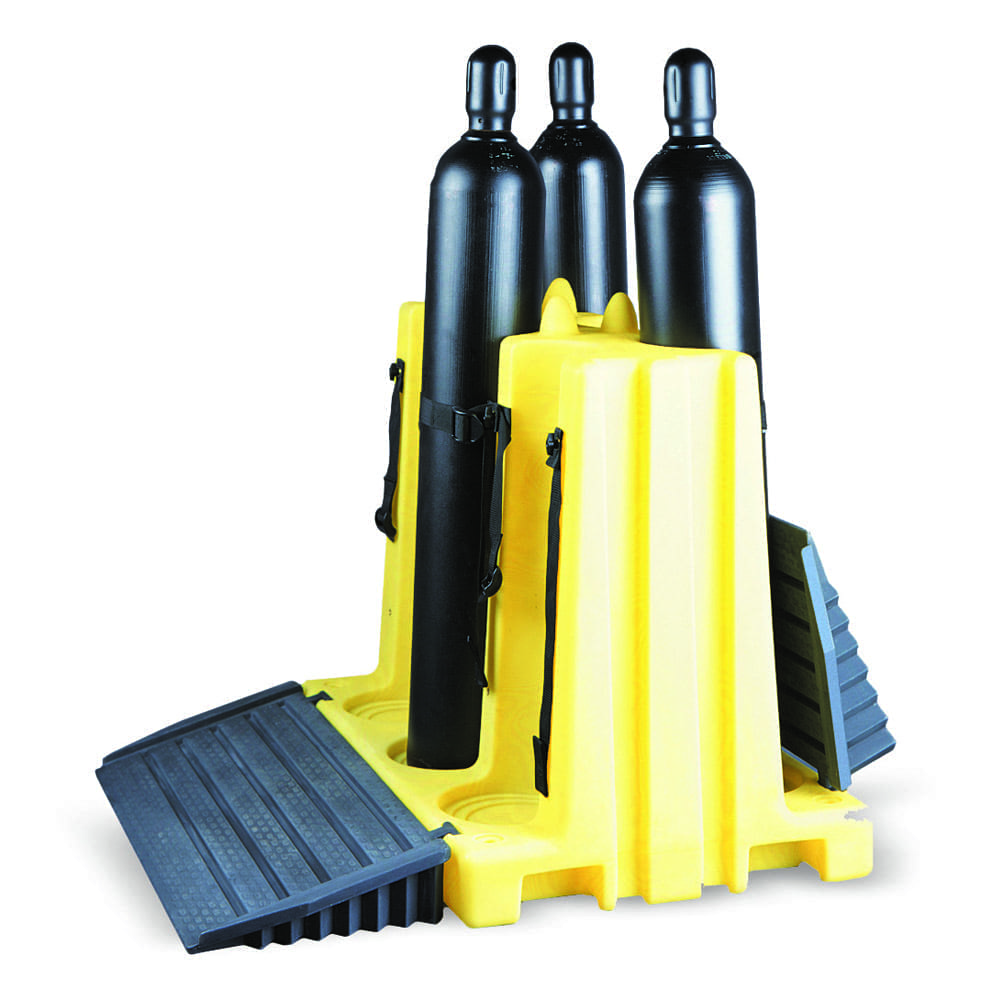 Cylinder Lifting Equipment : Gas cylinder racks trolleys polypropylene materials