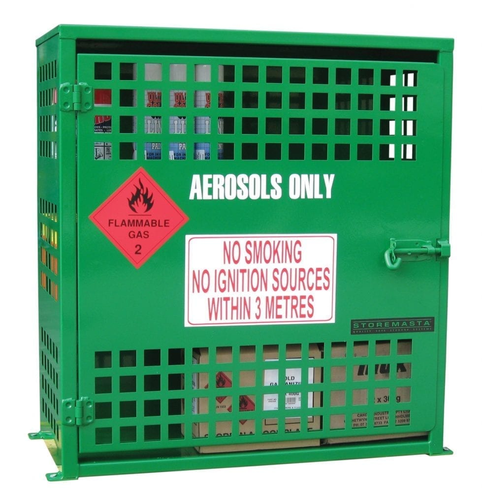 Aerosol Can Storage Cages Materials Handling