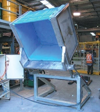 Forward Bin And Drum Tipper Materials Handling