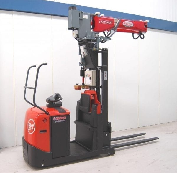 Electric Lift Assist Arms : Pallet truck mounted quick lift order picker materials