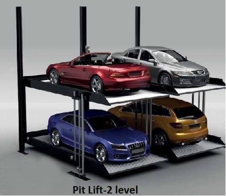 Pit-lift below ground