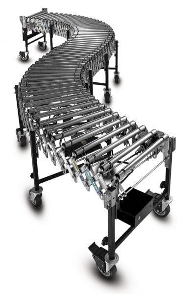Powered roller extendable conveyor