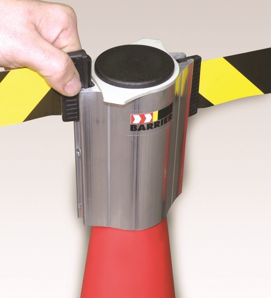 Skipper Retractable Safety Barrier Materials Handling