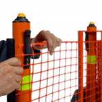 Portable Safety Zone fencing