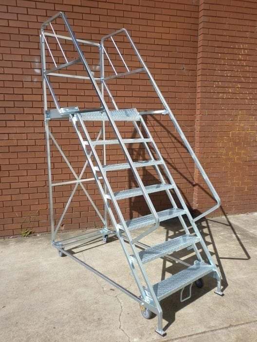 wiretainers preston storage mobile platform ladder 7 stepper pictured we manufacture from 2 step to 12 step as standard b3eb 938x704