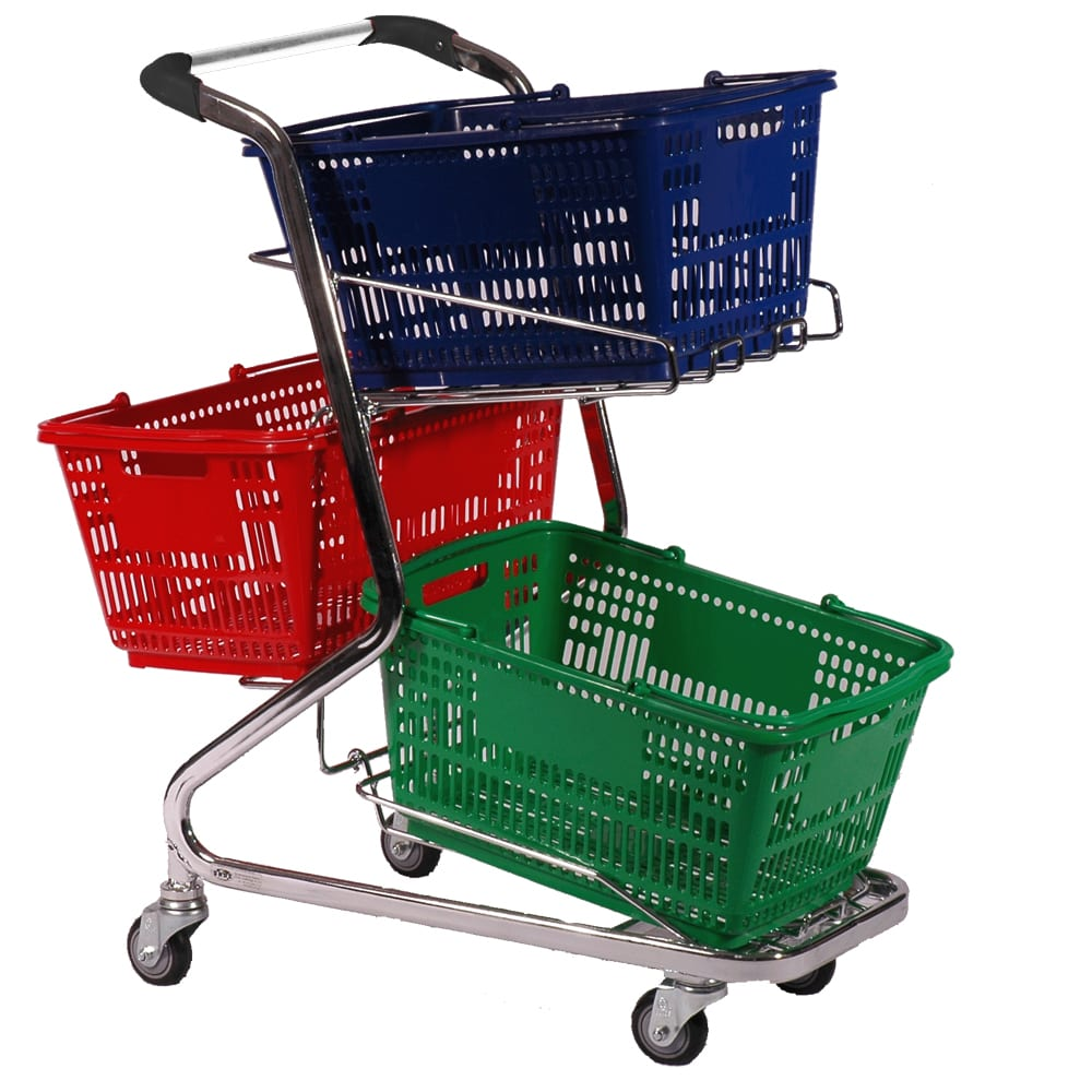 3 Basket Trolley