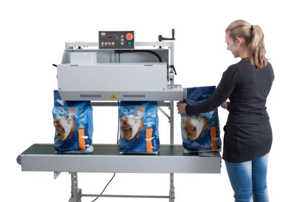 All in Vertical Band Sealer in use