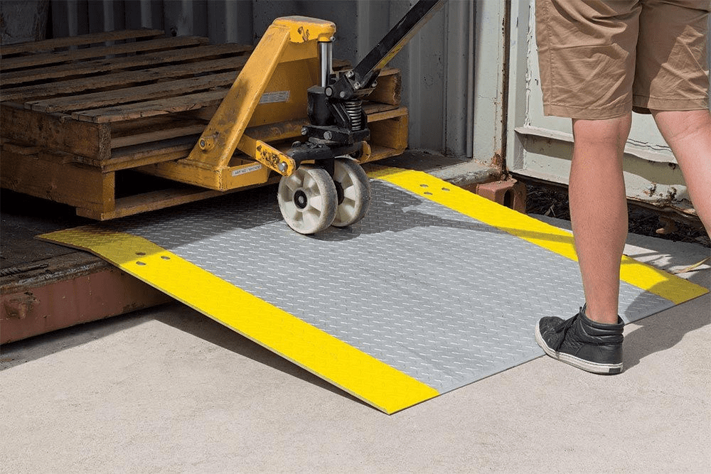 Aluminium Dock Plate use with trolleys
