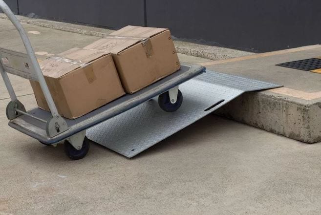 Aluminium Trolley Ramp Med Duty ATR900 Application