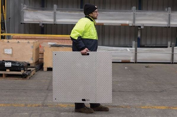 Aluminium Trolley Ramp Med Duty ATR900 Carry Handles