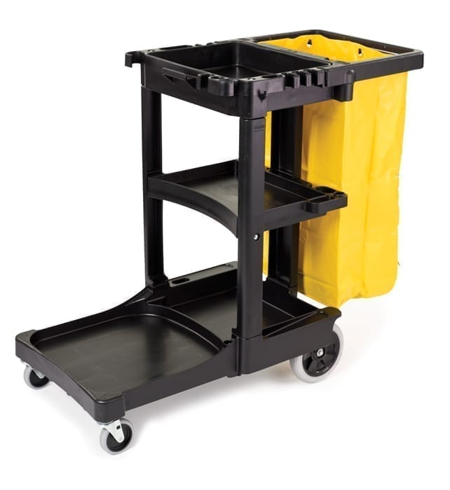 B6173 Cleaning Cart with B6183 Vinyl Bag