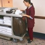 B6189 Janitor and Housekeeping Carts Servicing Rooms