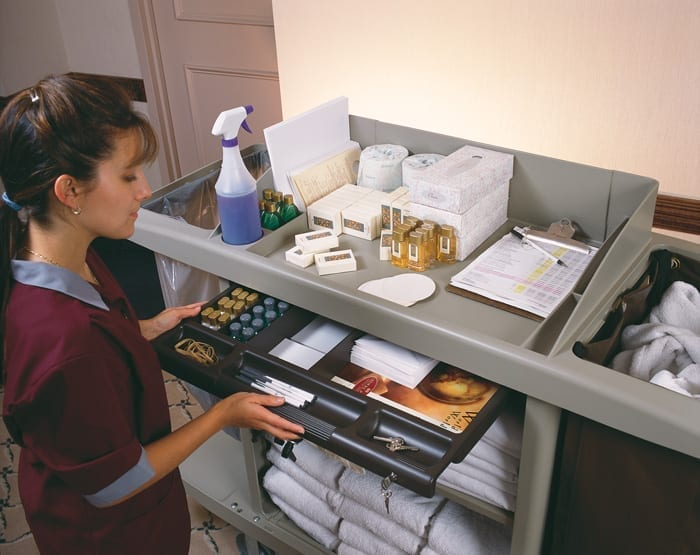 B6189 Janitor and Housekeeping Carts Servicing Rooms-Drawer