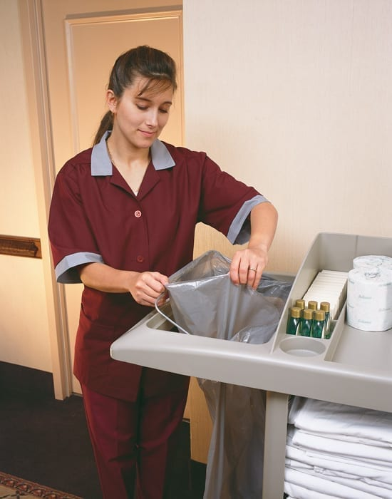 B6189 Janitor and Housekeeping Carts Waste-Management