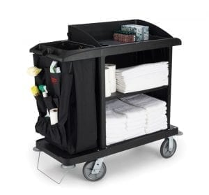 B6190 Compact Housekeeping Cart with accessories 2