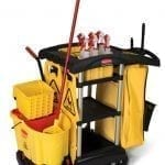 B9T72 High Capacity Cleaning Cart with accessories 2