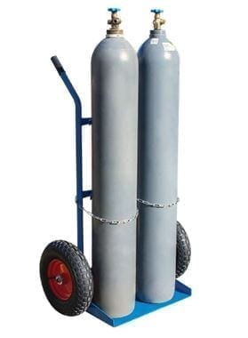 BFW70555 Dual Gas Bottle Trolley with cylinders