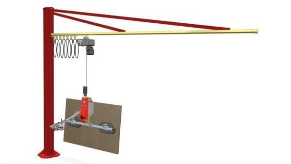 Barbaric B3 uniWood with jib crane