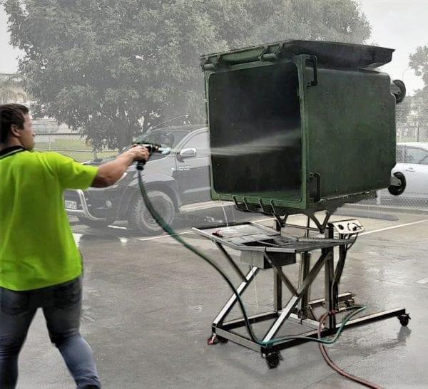 Bin Blaster for Washing Bins