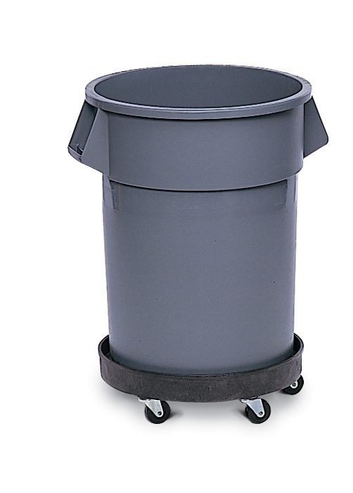 Brute bin with dolly