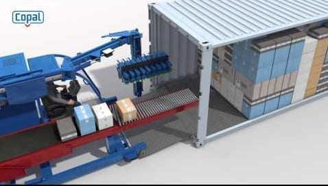 Automatic Shipping Container Unloader Materials Handling