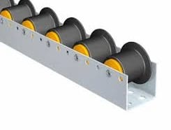 C2911 Flanged plastic rollers