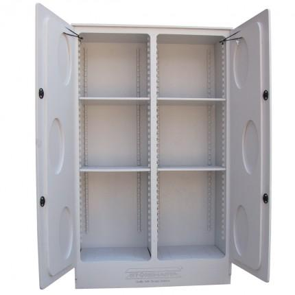 CP2500 Polyethylene Corrosive Storage Cabinets open