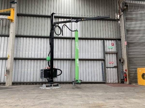 Carbon Fibre Jib with Vacuum Lifter on Mobi Disc Stand
