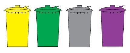 Clinical waste bins colours