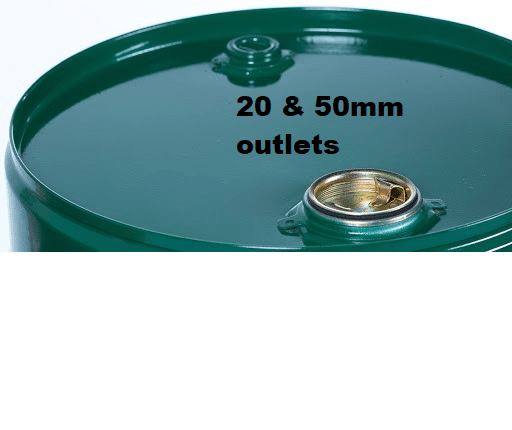 Closed head drum 20 50mm outlets