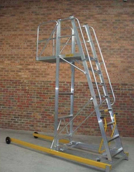 Custom Made Aluminium Access Platforms Cantilevered Platform Ladder Vehicle Maintenance