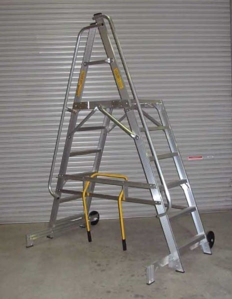 Custom Made Aluminium Access Platforms Mobile Bridge Ladder