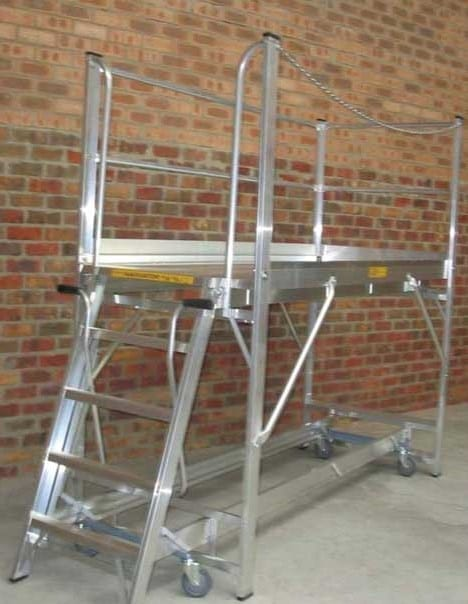 Custom Made Aluminium Access Platforms Navigator Based Extended Mobile Platform