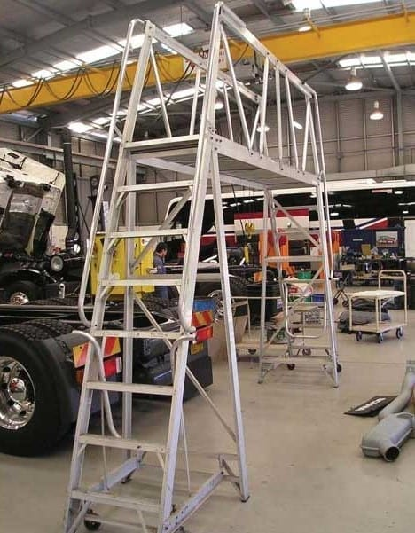 Custom Made Aluminium Access Platforms Navigator Based Mobile Gantry Ladder