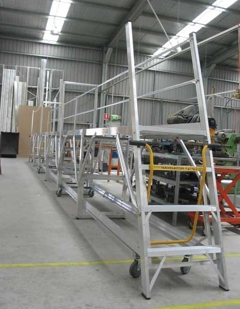 Custom Made Aluminium Access Platforms Navigator Based Multi Section Platform