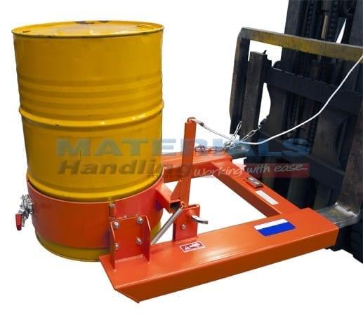 DDRU50 Forklift Mounted Manual Drum Dumper 1