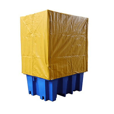 DMXP6503 PVC Cover and Frame for Single IBC Spill Pallets closed
