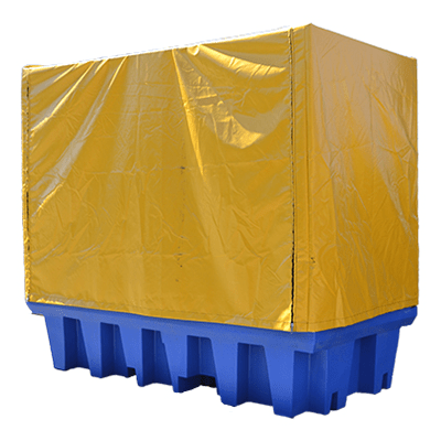 DMXP6504 PVC Cover and Frame for Double IBC Spill Pallets closed