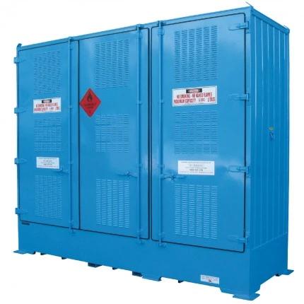 DPR06BB Outdoor Dangerous Goods Store IBCs closed