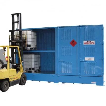 DPR08BB Outdoor Dangerous Goods Store IBCs forklift