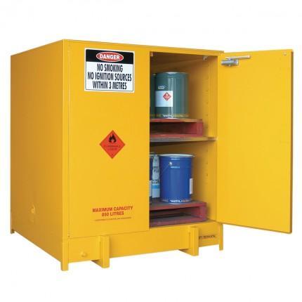 DPS1000 Heavy Duty Dangerous Goods Storage Cabinets open